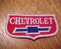 1950s Vintage CHEVROLET BOWTIE Automobile Dealer Patch New Old Stock Nice Condition Rare Old Dealership Service Uniform