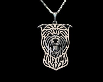Glen of Imaal Terrier - sterling silver pendant and necklace.