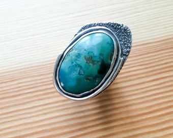 Turquoise ring/Sterling silver ring with Turquoise Stone