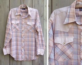 Vintage shirt | Men's plaid Dee Cee Rangers Western cowboy shirt