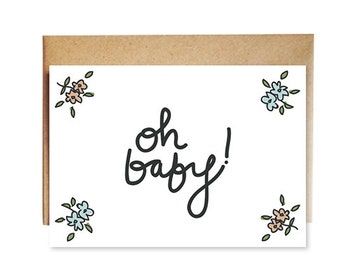 oh baby! floral card