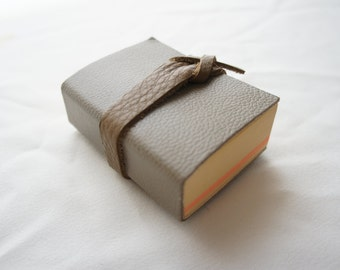 Leather cover Journal (perfect bound - petit size!)