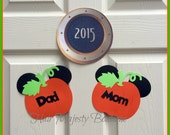 Personalized Mickey Mouse Pumpkin Magnets For Cruise Door