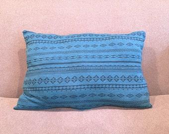 Blue Tribal Pillow