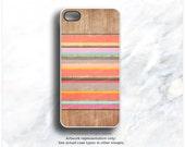 iPhone 6S Case, iPhone 6S Plus Case Color Stripes, Wood Print iPhone 5s Case Wood iPhone 6 Case Geometric iPhone Case Wood iPhone Cover I63d