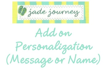 Add on Personalization - Message or Name