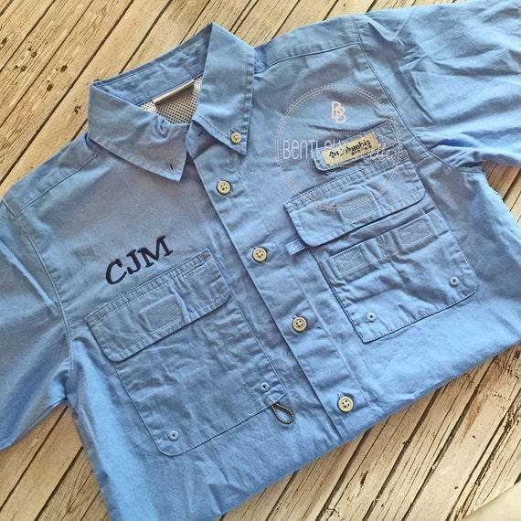 Boys columbia monogrammed fishing shirt boys monogrammed for Custom embroidered columbia fishing shirts