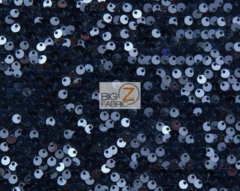 "Rain Drop Sequin Stretch Velvet Fabric - NAVY BLUE - 55""/60"" Wide By The Yard Prom Party Dress Crafts"