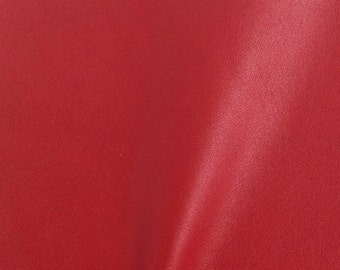 "Solid Two Way Stretch Spandex Costume Dance Vinyl Fabric - RED - Sold By The Yard 55/56"" Width"