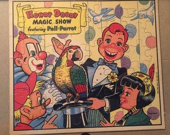 Vintage Howdy Doody Poll Parrot Magic Show Jigsaw Puzzle