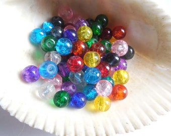 50 Assorted Glass Beads - 25-29