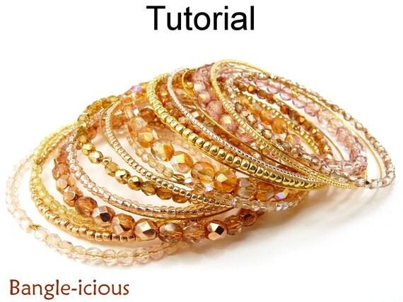 beading tutorial bangle bracelet beaded memory wire wire