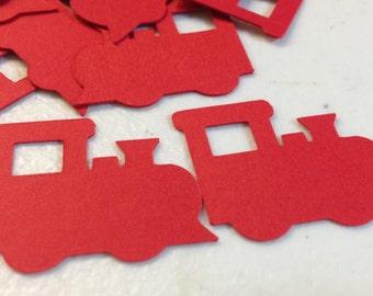 50 Die Cut Choo Choo Trains/Confetti/Cupcake Toppers/DIY/Scrapbooking