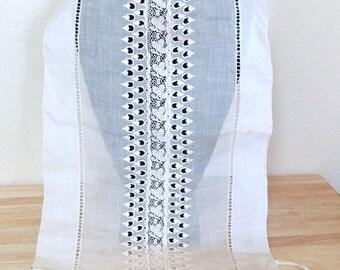 Victorian Lace Embroidered Dress Insert Accessory/Bib