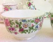 Chintz 1930s Sugar Bowl, Crown Staffordshire