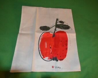 Vintage Vera Tea Towel  with an Apple Design