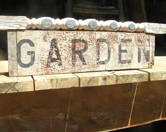 Old Garden Spindle wood sign