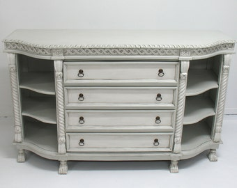 Hand Painted Buffet Server with Lions Feet