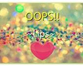 OOPS Lips - Random Lip Stick Lip Balm Lip Gloss - Maybe Matte Glossy Shimmer Satin - Random Colors Mix Ups