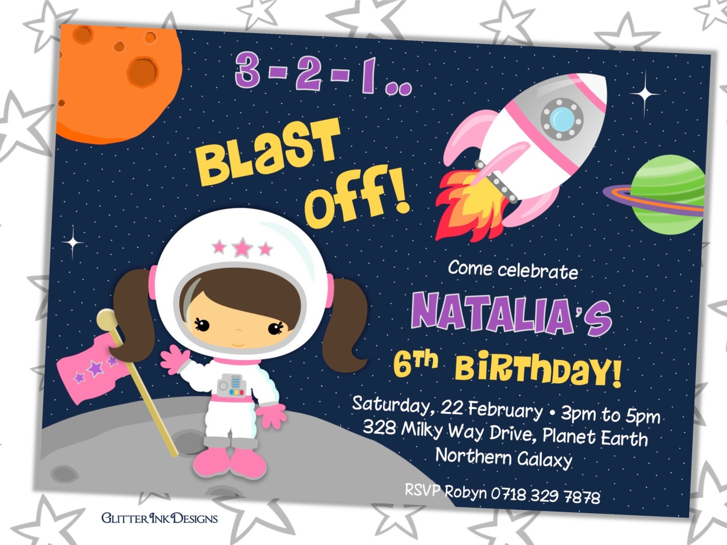 astronaut invitations - photo #39