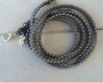 Wrap bracelet , Thread woven bracelet wax discs