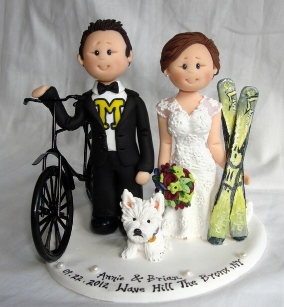bicycle wedding cake topper uk items similar to customized amp groom bike bicycle 11736