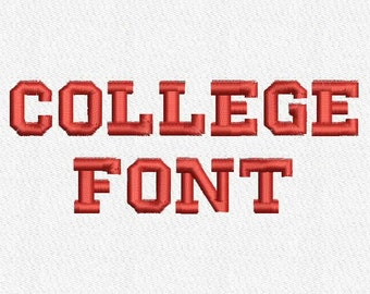 College Embroidery Font