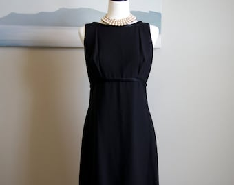 1960s Little Black Dress LBD with cape