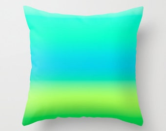 Solid Green Throw Pillows Modern Minimalist Sunset Decor Pillow cover Cushion covers Pillow case Accent pillow Couch pillow Decore pillow