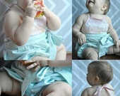 BABY Lily Lace romper, dress, top and bloomer