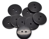 10 Round Plastic Buttons Two Hole 23mm Black - pack of 10 PB86