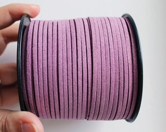 Purple Suede cord - high quality soft faux cord 2 m - 2,18  yards or 6,5 feet