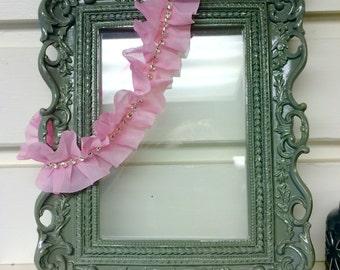 Diamonds Pink Ruffle Headband, Baby Headband, Child Headband, Newborn Headband, Photo Prop, Diamond Headband, Adult Headband, Pink Headband