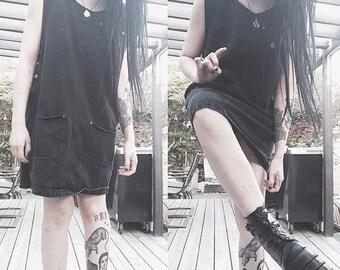 90s Black Jean Dress