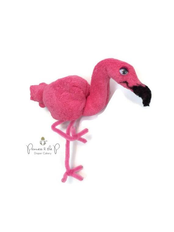 washcloth flamingo baby shower diaper cake tropical hawaiian
