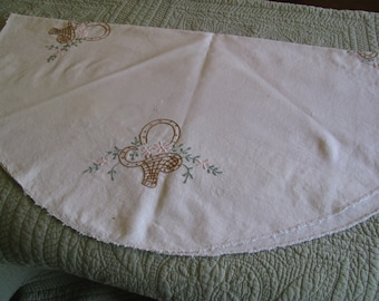 Hand Embroidered Round Table Cloth