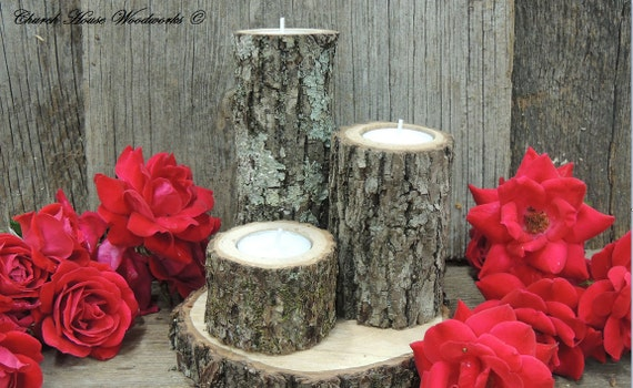 Sale tree branch candle holders rustic wedding