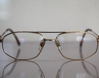 Vintage FLAIR Eyewear, Gold Titanium Frame,   Lenses RX-Able Prescription . Rare Piece.