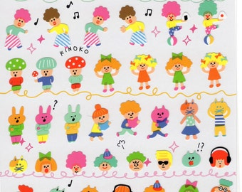Japan Mind Wave kawii Children,Rabbits,Cats sticker sheet/77300