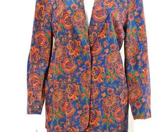 ON SALE Blazer and Short Set: Silk Short Set / 80s Short Set / VTG Short Set / Vintage Dress Shorts / Silk Dress Shorts / Silk Blazer 80s Hi