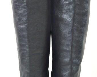 ON SALE FRYE Boots: Frye // Vintage Frye // Black Frye Boots // Leather Boots // Black Leather Boots // Designer Fashion Boots // Calf Lengt