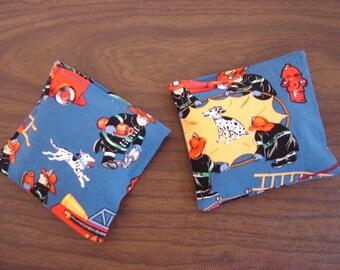 Blue Fireman Print Hand Warmer Corn Cozie