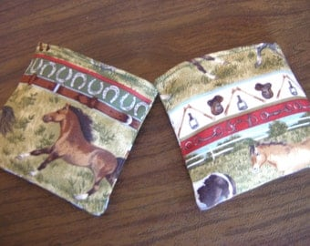 Row Jumper and Boots Horse Print Hand Warmer Corn Cozies