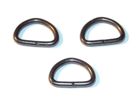 Genmetal black d rings 3 8 inch dee rings 10mm webbing for 3 inch rings for crafts