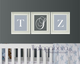 Wall PRINTS -  children wall print - kids monogram print - custom wall print - initial wall print - nursery wall print