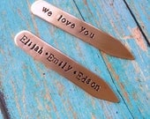Daddy Collar stays, Father's Day Gift, dads day gift, collar stays, personalized collar stays, business dad gift, dapper daddy