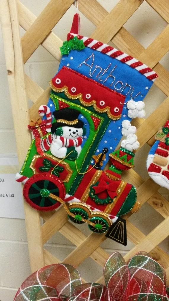 Handmade custom christmas stockings felt by tonybudssewing for Custom made christmas stockings