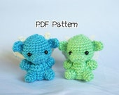 Pastel Scales Dragon Crochet Pattern, Amigurumi Dragon Pattern, Crochet Tutorial