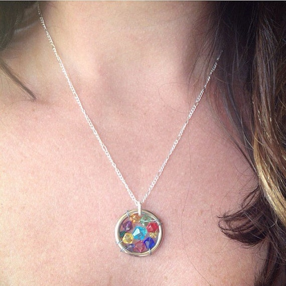 Rainbow Baby Necklace