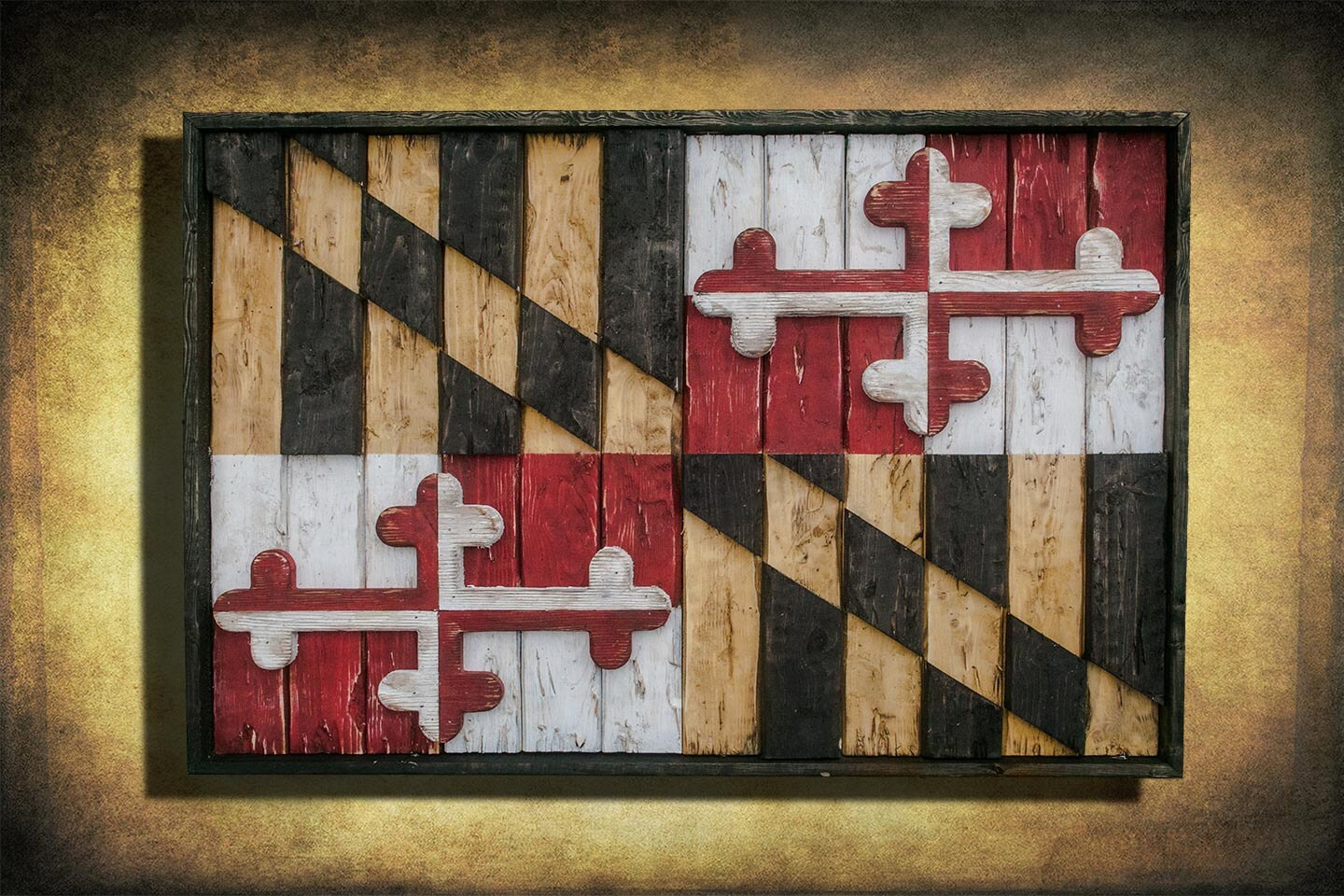 Maryland Flag, Limited Edition, Weathered Wood One of a kind , Wooden,  vintage - Baltimore Etsy
